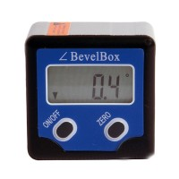 Mini Inclinometer Angle Gauge Meter Digital Level Box Level Angle Gauge Protractor - Blue