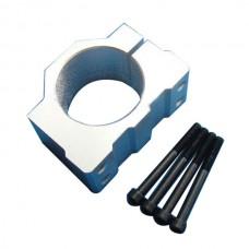 Aluminum Alloy 52mm Motor Mount Fixture Clamp Holder w/4 Screws CNC Spindle