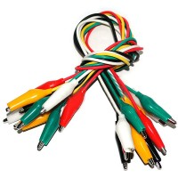 10pcs Alligator Croc Clip Test Leads Color Jumper Cable Wires 50cm