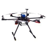 TopSkyRC T750 Hexacopter Carbon Fiber Frame Kit w/ Motor& ESC & Prop & V2 & Radio & Charger & Case & Retractable Landing Gear (RTF)