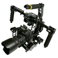 FPV 3 axis DSLR Brushless Gimbal Glass Fiber w/ 3pcs Motor & 32 bit 3 Axis AlexMos Control Board