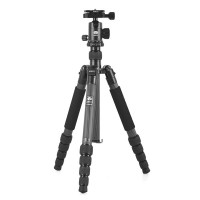 Gopro Sirui T1205 + G10 Portable Super Stable Travel Tripod 5 Section Carbon Fiber Tripod BALL HEAD