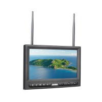 "Feelworld FPV819DT 8"" Built-in Dual 32CH Receiver Monitor for FPV System"