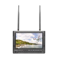 Feelworld PVR-732 7'' FPV Monitor 2CH Receiver HD 1024*600 Monitor HDMI Built-in Battery