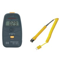 MASTECH MS6500 31/2 K-type Digital LCD -50---750 Degree Thermometer Temperature Meter w/Straight Head Surface Themocouple