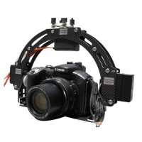 2-axis Stabilized Carbon Fiber FPV Camera Mount Gimbal for 600D DSLR Camera
