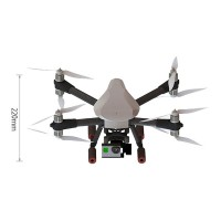 SKY MAX X8 Quadcopter Frame Kit Full Carbon Fiber Folding Alien for FPV Phtography White Cover