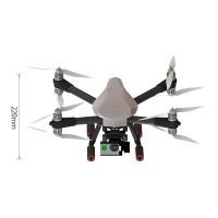 SKY MAX X8 Quadcopter Frame Kit Full Carbon Fiber Folding Alien for FPV Phtography White Cover