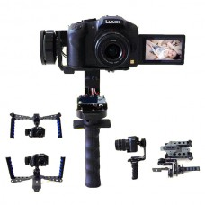 J69 Handheld 3 Axis Gimbal Stabilizer Electronic Gyroscope Autostability w/ Monolever & Double Handle for SLR