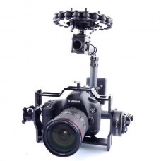 3 Axis DSLR Carbon Fiber Brushless Aerial Gimbal with Motors and Controller for FPV Photography