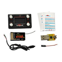 Flybarless System GY280RX VBAR Receiver with 3-Axis Gyro DSM2 Setting Card Boost
