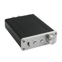 D302 Digital Amplifier 30W+30W 192k Coaxial Optical Fiber USB Sound Card Surpass TA2024 TA2021 Silvery (Power Supply Included)