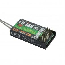 Flysky FS-iA6 Six-Channel Receiver Suitable for Fixed-Wing Glider Helicopter