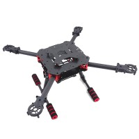 450mm Umbrella Folding Carbon Fiber Quadcopter with Folding Landing Gear for FPV Photography