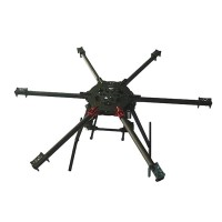 900mm Umbrella Folding Carbon Fiber Hexacopter for FPV Photography Micro SLR