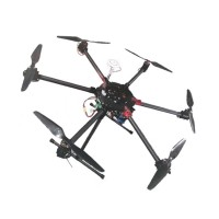 900mm Umbrella Folding Carbon Fiber Hexacopter w/ Electronic Landing Gear for FPV Photography Micro SLR