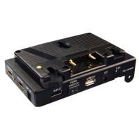 Lanparte V-mount Battery Pinch DSLR Power Supply Battery Plate VBP-01 with V-lock HDMI Splitter & 15mm Rods Clamp