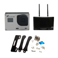 FPVfactory FPV HD Gopro Camera with Boscam RX LCD5802 Monitor & Carbon Fiber Holder for FPV Photograph