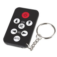 5PCS Key Ring Mini Universal Infrared IR TV Set Remote Control Keychain Key Ring 7 Keys New Hot Selling