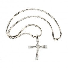 5PCS Platinum plated Crystal stones Dominic cross necklace Fast And Furious Men Classic Style CROSS Necklace
