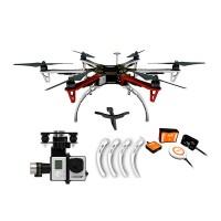 DJI F550 Multicopter Hexacopter ARF Kit Combo & Naza-M V2 Flight Control System & Landing Gear & H3-3D Gimbal