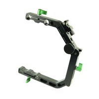 Lanparte C Arm C Support Clamp Side Open Arm for 15mm Rail Rod DSLR Video Support Rig System