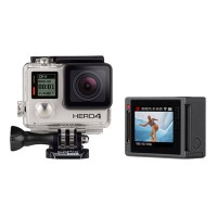 Gopro Hero 4 Camera Silver Professional Version for Extreme Sport w/ LCD Touch Screen & 64G Card