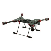 H4 1.6MM Board 680MM Wheelbase Double C Buckle Folding Carbon Fiber Quadcopter w/ CF Landing Gear & GPS Mounting Base