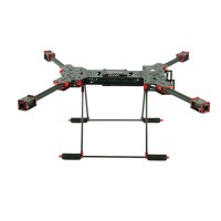 H4 1.6MM Board 680MM Wheelbase Single C Buckle Folding Carbon Fiber Quadcopter w/ 3K CF Landing Gear & GPS Mounting Base