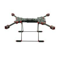 H4 1.6MM Board 680MM Wheelbase Single C Buckle Folding Carbon Fiber Quadcopter w/ CF Landing Gear & GPS Mounting Base