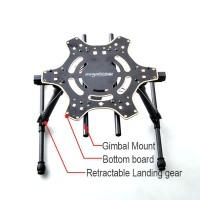 DJI F550 Electronic Landing Gear Upgrade Kits w/ Center Bottom Board & Gimbal Mount