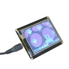 Raspberry Pi Display RPI Pie pCduino Robopeak Mini USB 28 inch Resistive Touch Screen Monitor DIY Kit Electronic Toy Development