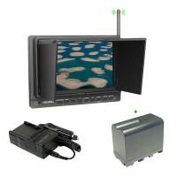 "Feelworld PVR-758 Wireless 5.8G 32CH FPV/DVR 7""Monitor Receiver + F970 Battery Holder"