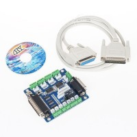 5 Axis CNC Breakout Board Interface Adapter + DB25 Cable