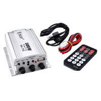 2CH 500W USB AUX FM MP3 Car Audio Amplifier With Remote Control FM 87.5-108MHz