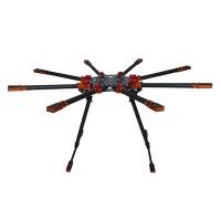 SAGA R8 Octacopter Carbon Fiber Umbrella Type Folding Frame Kits (Landing Gear Not Included)