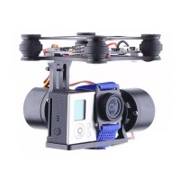 DJI Phantom Brushless Gimbal Camera Mount w/ Motor & Controller for Gopro3 FPV Aerial Photography