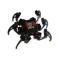Aluminium Hexapod Spider Six 3DOF Legs Robot Frame Kit Fully Compatible with Arduino