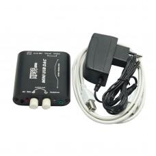 MUSE Mini 24Bit 192Khz Coaxial Optical USB Input DAC Headphone Out -Black