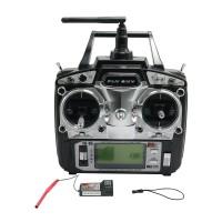 FS FlySky FS-T6 FS T6 2.4G Digital Proportional 6 Channels Transmitter & Receiver w/ LED Screen Mode 1/2
