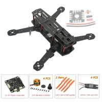 ZMR250 250mm Glass Fiber 4 Axis Mini Quadcopter + CC3D Flight Controller & DYS BE1806 & Hobbywing XRotor 10A Opto ESC