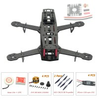 250mm Carbon Fiber 4 Axis Mini Quadcopter + Naza Lite(GPS) & DYS BE1806 & Hobbywing XRotor 10A ESC