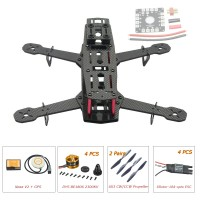 250mm Carbon Fiber 4 Axis Mini Quadcopter + DJI Naza V2(GPS) & DYS BE1806 & Hobbywing XRotor 10A Opto ESC