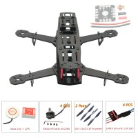 250mm Carbon Fiber 4 Axis Mini Quadcopter + Naza Lite(GPS) & EMAX MT1806 & EMAX Simonk 12A ESC