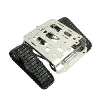 MC Robot MK1S Thicked Full Metal Robot Car Chassis Track Tank Arduino Wali Stainless Steel