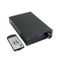 FX Audio D802 HIFI Digital Amplifier Remote Control USB Optical Fiber Coaxial Input 192KHZ 80W*2 Blue