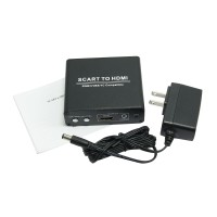 SCART to HDMI Scaler Box for Analog Video YC RGB Image on HDTV