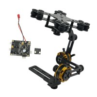 Aluminium Alloy Mini DSLR 2 Axis Brushless Gimbal Camera with Motor & Controller for NEX5/6/7 FPV Photography