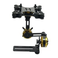 Aluminium Alloy Mini DSLR 3 Axis Brushless Gimbal Frame Kit with Motor for NEX5/6/7 FPV Photography