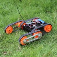 Finder Robot DG012-RP Cross Avoidance Track Smart Car Chassis & Control Board & Bluetooth Remote Control